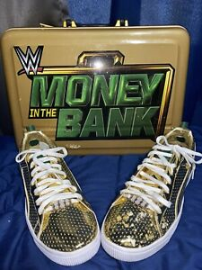Puma WWE Clyde Money In The Bank Rare Gold Sneakers
