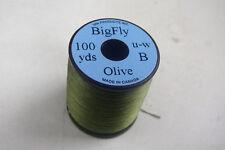 1x80 yards BIG FLY 3/0 Fil de montage  OLIVE mouche peche truite mosca fliegen