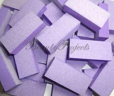 25pc Nail Buffer 80/80 White Grit Purple Sanding Mini Small Buffer Blocks 2 Side