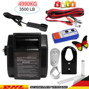 Elektrische Seilwinde Motorwinde 12V 4990KG Funk Bootswinde Winde Seilzug KFZ NE