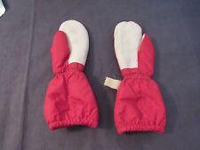 Vintage Medium Children's Mittens Genuine Steerhide Elastic Wrist Wool Lined