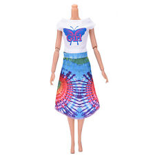 "Fashion Beautiful Handmade Party Clothes Dress for 9"" Barbie Doll Mini 100 SP3EF"
