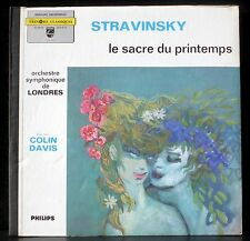 Stravinsky Sacre du printemps Colin Davis Londres 835 252 E.O. LP & CV NM -