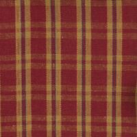 1.375 YDS Homespun Woven Plaid JEWEL Brick Red Drapery Upholstery Sewing Fabric