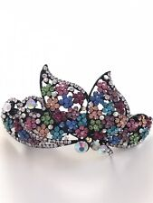 Colorful Floral Rhinestone Hair Clip