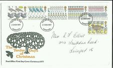 FIRST DAY COVER 1977-23 RD NOV -CHRISTMAS 12 days of Christmas Post Office