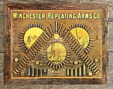 WINCHESTER Repeating Arms Co. Vintage Tin Metal Sign