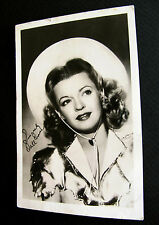 1947~DALE EVANS COWGIRL STAR~HOLLYWOOD FAN PHOTO POSTCARD~3 1/2 x 5 1/2 SIGNED