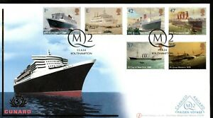 2004  Ocean Liners FDC QM2 Maiden Voyage Carried on Board Cover