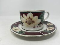 Vintage Gibson Sweet Magnolia Bloom Everyday Coffee Cup and Saucer Houseware