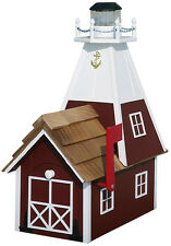 Lighthouse Mailbox w/Solar Light & Cedar Roof made by PA Amish - U Choose colors