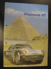 Brochure Pharaons Rally 1987 (Egypte)