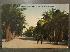 cpa espagne espana melilla paseo central del parque hernandez