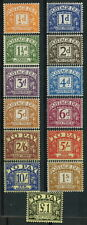 SG. D56 - D68. ½d - £1.00. POSTAGE DUE. A very fine UNMOUNTED MINT set.