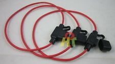 3pcs Inline Blade Mini Fuse Holder Box for car boat with 16 AWG 30cm cable