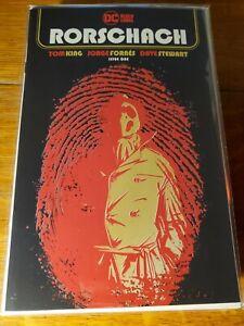 Rorschach #1 Cover A Jorge Fornes DC Comics 2020 NM