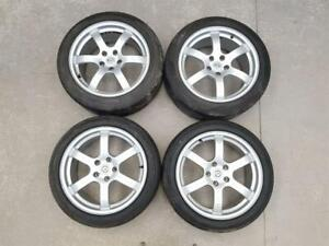 """2003-2007 Z33 NISSAN 350Z FAIRLADY 18"""" RAYS FORGED ALLOY WHEELS STAGGERED SET"""