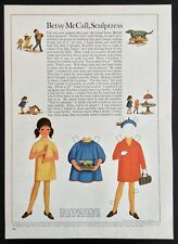 Vintage Betsy McCall Mag. Paper Doll, Betsy McCall, Sculptress , Feb. 1967