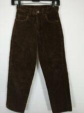 JORDACHE Girl's Brown Mid Rise Regular Fit Straight Leg Corduroy Pants size 10