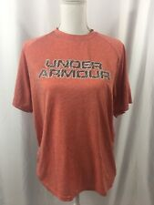 Under Armour Heat Gear Run Short Sleeve Shirt Medium Red Men's