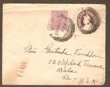 India LOT 5 censored and registered cover to United States and Bombay  FVF