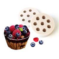 Silicone Blueberry Raspberry Fondant Mold Chocolate Cake Decor Baking Mould HO3