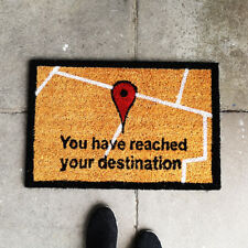 Reached Your Destination Doormat Sat Nav Coir Anti Slip Rug Entrance Floor Mat