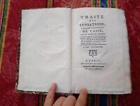 1777 Étienne Condillac Traité des sensations a madame la comtesse de Vassé