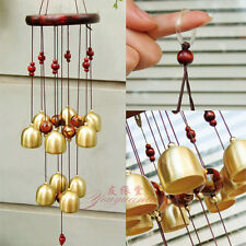 UNIQUE WIND CHIME BRASS METAL & WOODEN FENG SHUI 4 POSITIVE ENERGY IN YOUR HOME
