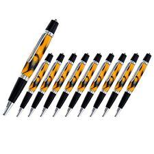 Viceroy Pen Kit, Chrome and Black Chrome Finish, Pack of 10, Legacy Woodturning