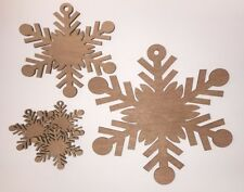 Wooden Decorative Snowflake Craft Shapes 3mm Plywood Christmas tree laser cut