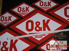 Aufkleber O&K 11x7cm (altes Logo,Rautenform)Orenstein & Koppel
