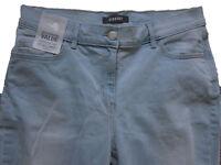 New Womens Marks & Spencer Blue Straight Leg Jeans Size 22 16 14 Medium Leg 30