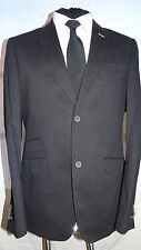 LOUIS FERAUD -PARIS DESIGNER SMART MEN'S SLIM FIT BLACK COTTON JACKET L