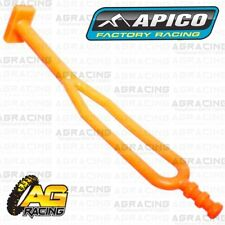 Apico Orange Rubber Side Stand Kickstand Headlight Battery Strap For KTM Enduro