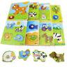 Coloré Réglable 4Forme Bébé Enfants Éducatifs Brique En Bois Animal Puzzle Jouet