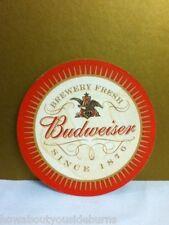 Bud Budweiser beer coaster round coasters Anheuser-Busch Brewery barware P3
