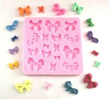 16 BOWS SILICONE MOULD-BOW/RIBBON MOLD-CHOCOLATE-CAKE DECORATING-FONDANT-RESIN