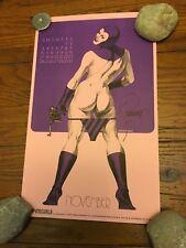 Jim Steranko Vintage1973 SIGNED SUPERGIRLS Calendar Page Poster November 10.5x17