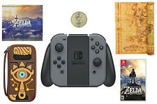 NEW Nintendo Switch Special Edition Zelda BotW Bundle - Gray Joy-con