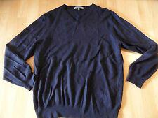 MONTEGO Basic V-Pullover Merino dunkelblau Gr. M TOP MC516