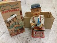 Vintage 1962 Charley Weaver Battery Powered Bartender IN THE ORIGINAL BOX.