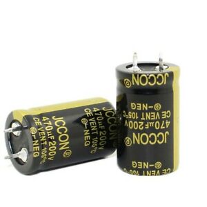 2PC 470uF 200V Snap-in Electrolytic Radial Capacitors 105°C 22x35mm