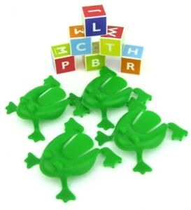 Cranium Family Fun Replacement Game Part (4) Frogs & (6) Letter Cubes Dice