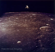 """Early NASA photo, lunar lander over the surface of the moon, 13x19"""""""