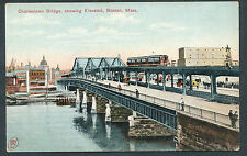 RW1161% USA Charlestown Bridge Elevated Boston  Robbins Bros Boston F.11830