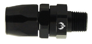 "Hose End Swivel Straight -8 AN Hose to Male 3/8"" NPT Black EA Phoenix J83800-3"