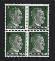 MNH  Adolph Hitler stamp block / 1941 PF05 / Original Third Reich Germany Block