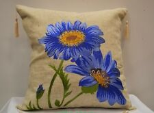 Luxury New floral Vintage Red, Orange, Blue cushion cover 40cm x 40cm pillowcase