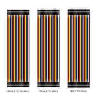 DE 40Pin Dupont Kabel Jumper Wire Linie Kit Pi Arduino Breadboard M-F, M-M, F-F
